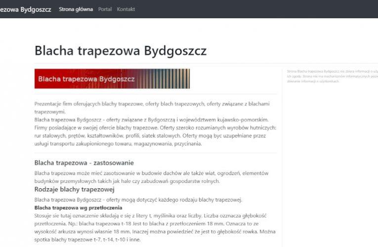 Serwis – blacha trapezowa Bydgoszcz